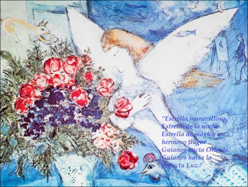 El ángel azul. M. Chagall We three kings of Orient are